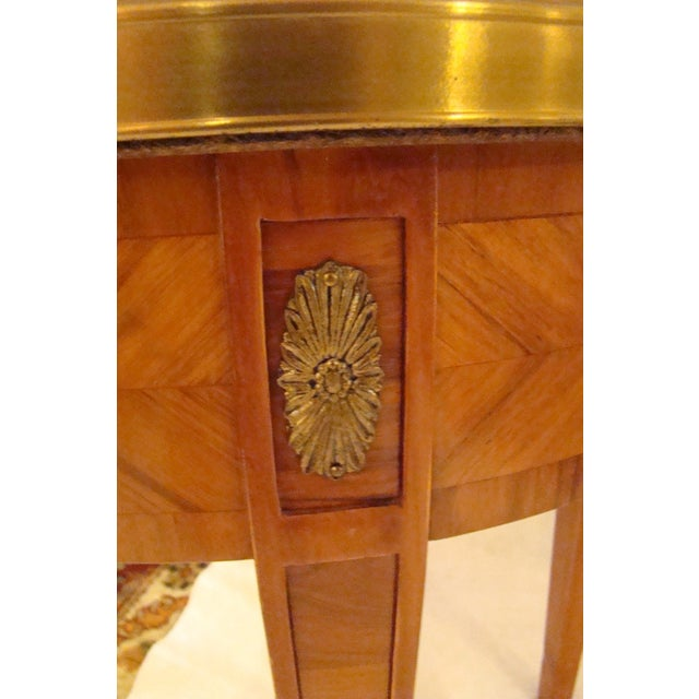 French Louis XVI Style Bouillotte Table - Image 6 of 11