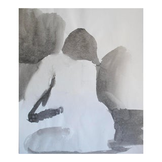 1970s Figurative Ink Wash For Sale