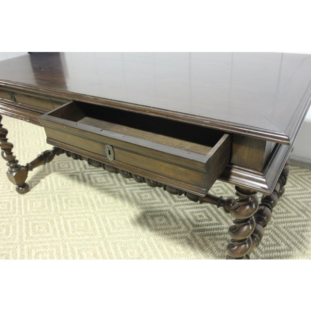1800s Traditional Portuguese Desk With Two Drawers For Sale In Los Angeles - Image 6 of 7