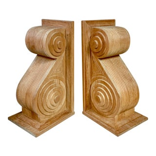 Pair of Large Scale Teak Wall Brackets by Sutherland For Sale