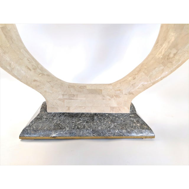 1970s Mid-Century Modern Maitland Smith Tessellated Stone Console or Center Table For Sale - Image 12 of 13