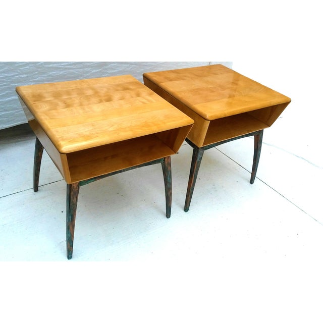 Heywood-Wakefield Side Tables - A Pair - Image 3 of 10