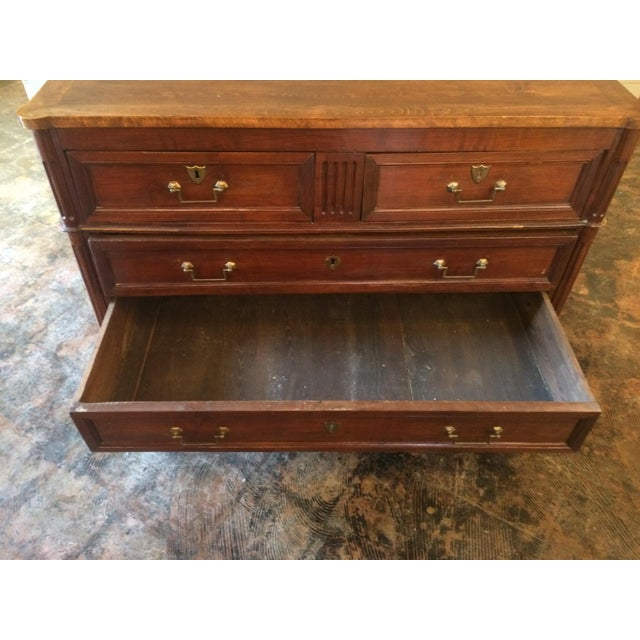 French Louis XVI Period Chest in Walnut For Sale - Image 3 of 8