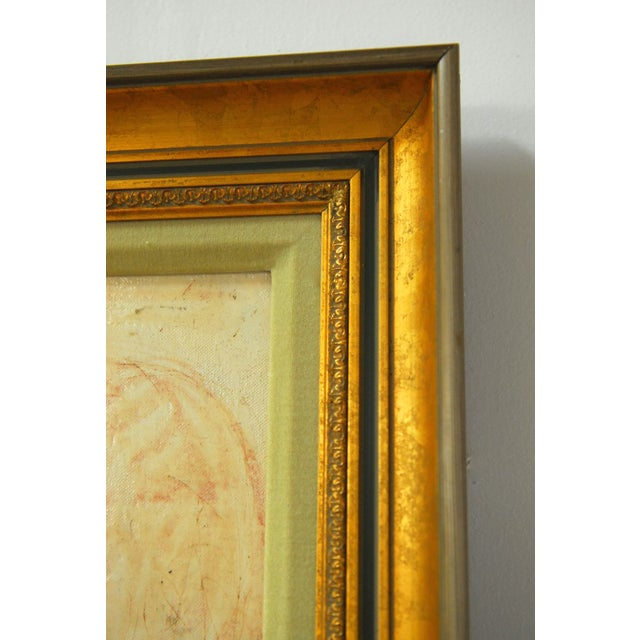 Pascal Cucaro Profile Portrait Oil on Board - Image 7 of 9