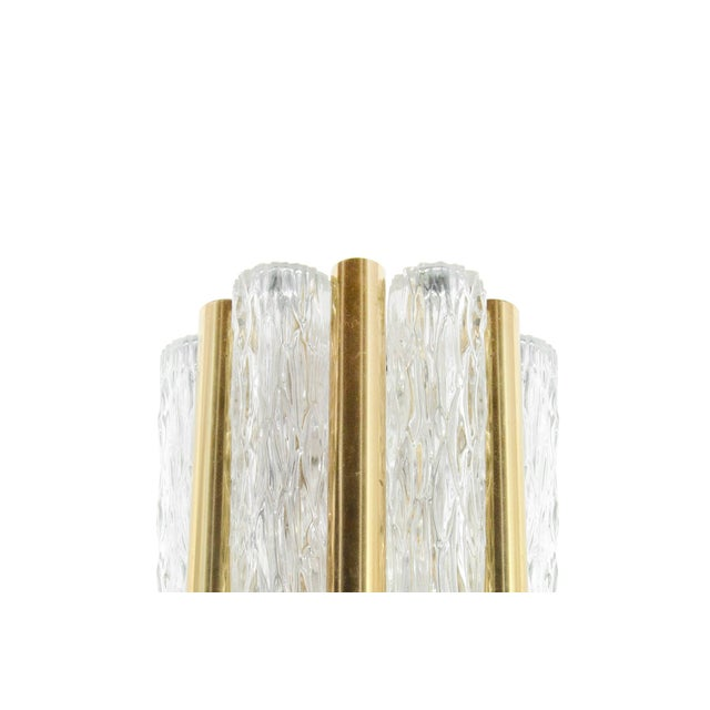 Brass 1950s Germany Murano Glass and Brass Sconces by Doria Leuchten - a Pair For Sale - Image 7 of 8