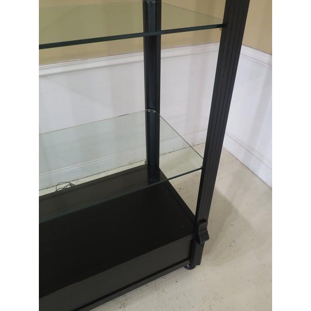 Black Lighted Open Display Curio Shelf For Sale In Philadelphia - Image 6 of 8