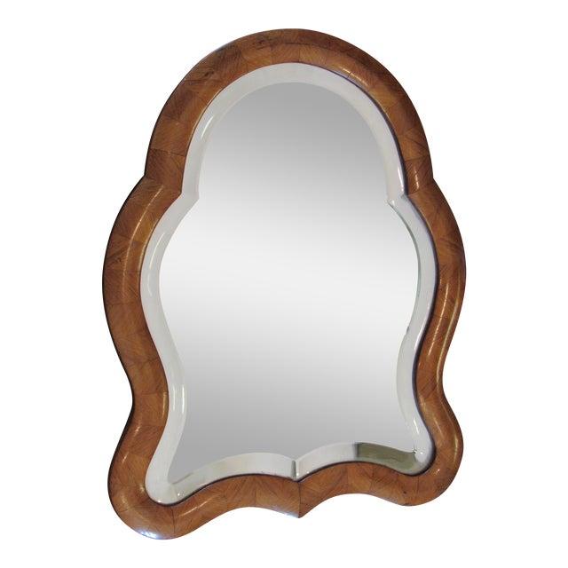 Antique Wood Framed Tabletop Mirror
