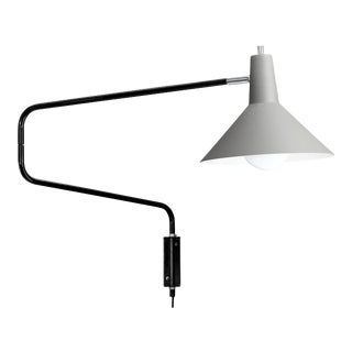 J.J.M. Hoogervorst Gray Paperclip Wall Light for Anvia For Sale