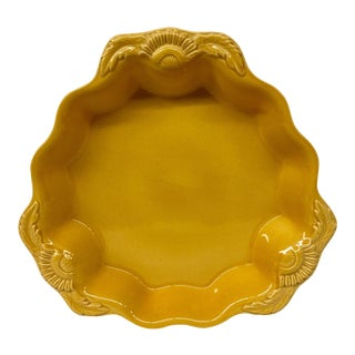 French Ovenproof Appolia Gold Clay Serving Dish For Sale