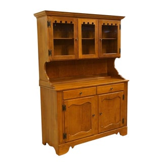 "Ethan Allen Maple 49"" Buffet W/ Hutch For Sale"