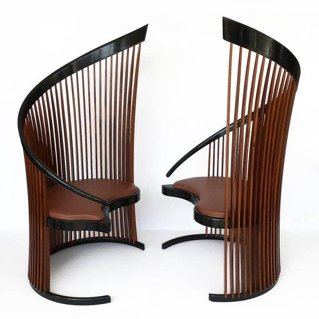 Art Deco Pair of Paso Doble Sculptural Chairs by Thomas Stender For Sale - Image 3 of 11