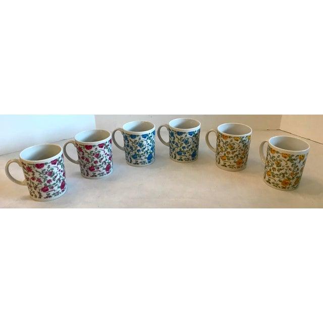 Mid 20th Century Vintage Japanese Ceramic Tea or Coffee Mugs - Set of 6 For Sale - Image 5 of 12