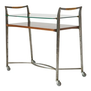Two Tier Bar Cart by Dominique, 1950s For Sale