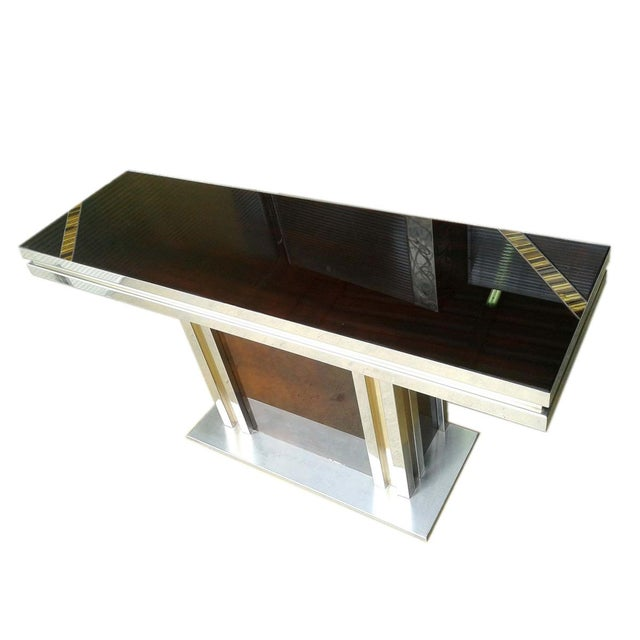 1970s Romeo Rega Glass Top Console For Sale - Image 5 of 7