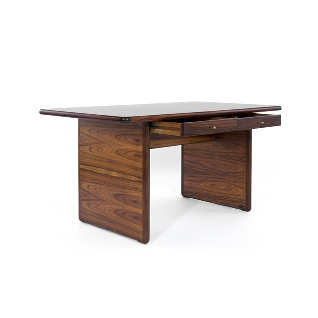 Danish Modern Rosewood Desk For Sale - Image 4 of 10