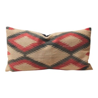 Large Early Navajo Indian Weaving Eye Dazzler Pillow For Sale