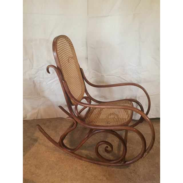 1960s Vintage Thonet Style Bentwood Rocking Chair For Sale - Image 11 of 12