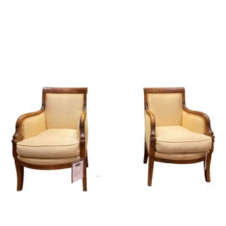 1820 Antique Charles X French Bergere Chairs - a Pair For Sale