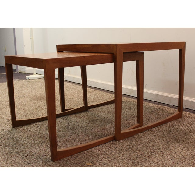 Danish Modern George Tanier Teak End Tables - Pair - Image 3 of 10