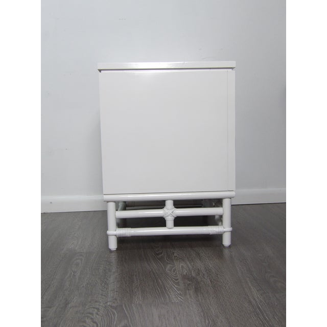 Ficks Reed Ficks Reed Nightstand, Three Drawer, New White Lacquer Finish For Sale - Image 4 of 7