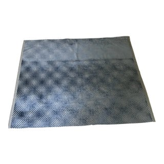 Designer Prussian Blue Cut Velvet Fabric For Sale