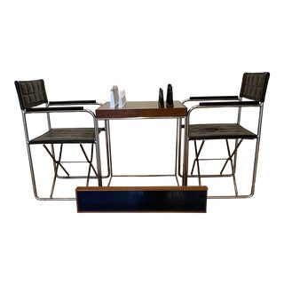 Austin Cox's Chess Set, Table and 2 Chairs - Set of 5 For Sale