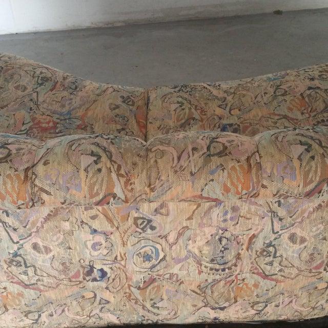 Blue Thayer Coggin Sofa- Custom Vintage For Sale - Image 8 of 10