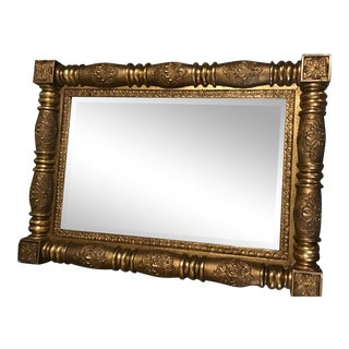 19th Century American Classical Gilt Wood Wall Mirror For Sale