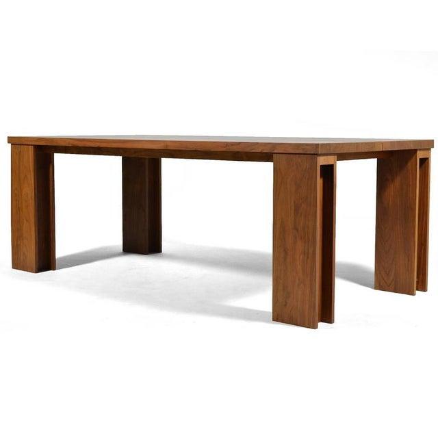 """Walnut De La Espada """"Long"""" Table in Black Walnut For Sale - Image 7 of 11"""
