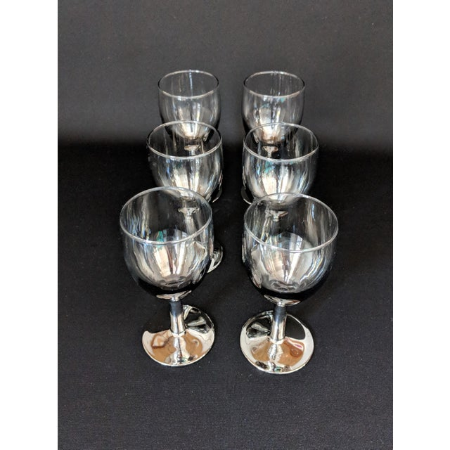 Lusterware Silver Ombre Glasses - Set of 6 For Sale In Raleigh - Image 6 of 13