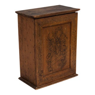 Antique French Tudor Pyrography Cabinet