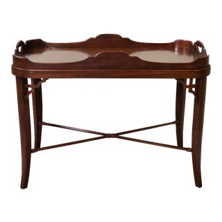 Traditional Maitland Smith Table With Removable Tray For Sale
