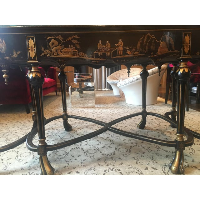 English Chinoiserie Center Hall Table For Sale - Image 4 of 10