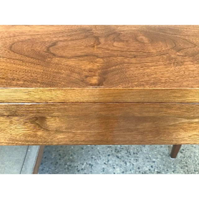 Brown 1950s Mid-Century Modern Edward Wormley for Dunbar Walnut Console For Sale - Image 8 of 10