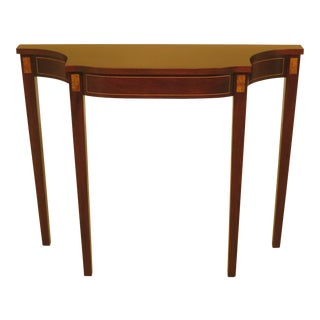 Federal Hickory Chair Co Inlaid Mahogany Wall Console Table For Sale