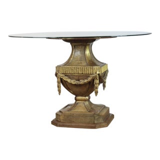 1920s Italian Glass Top Table For Sale