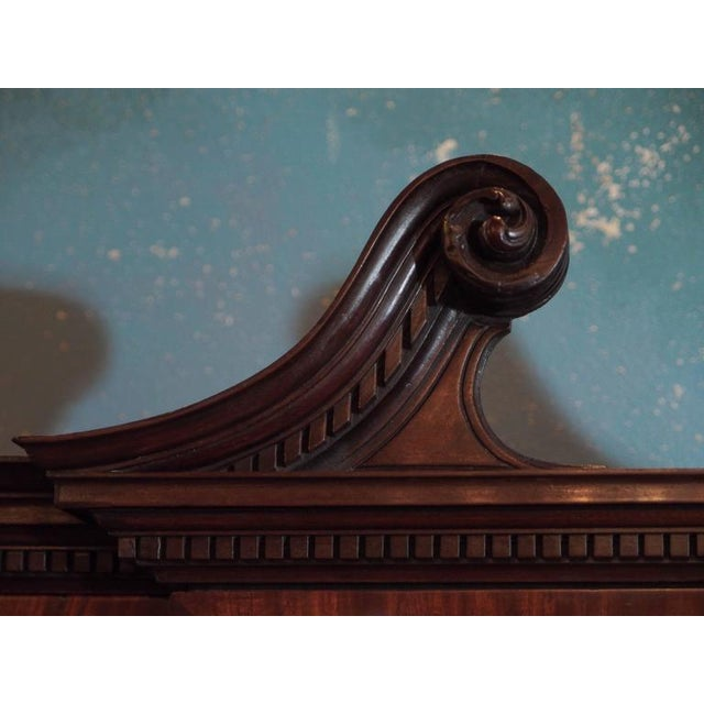 Mid 19th Century Antique English Mahogany Small Breakfront Bookcase For Sale - Image 5 of 8