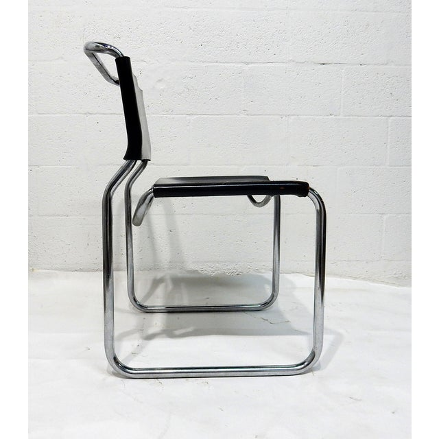 Nico Zograph Chrome Leather Sling Chairs - S/4 - Image 6 of 10