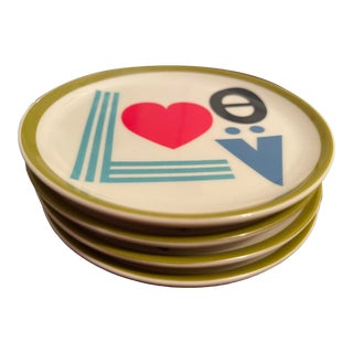 Jonathan Adler Porcelain Coasters - Set of 4 For Sale