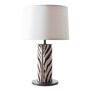 Round Leather Table Lamp For Sale
