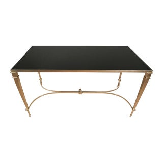 High Quality Neoclassical Brass Coffee Table For Sale