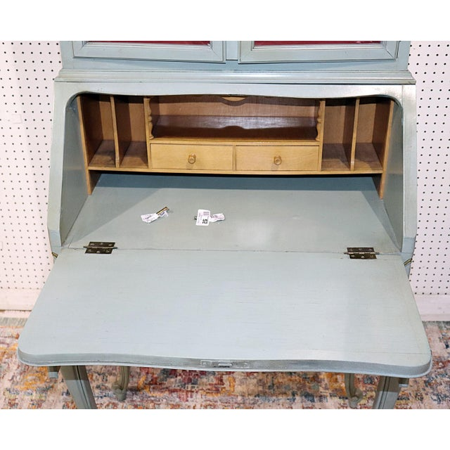 Metal French Louis XV Style Secretary Desk For Sale - Image 7 of 12