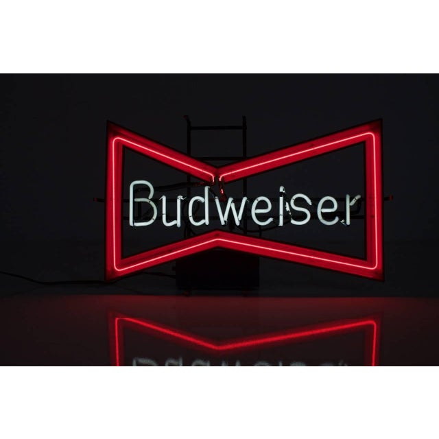 Modern Vintage Budweiser Neon Sign For Sale - Image 3 of 11