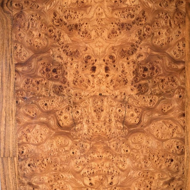 Gold Art Deco Style Four Panel Screen in Burled Carpathian Elm with Geometric Shapes For Sale - Image 8 of 9