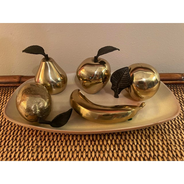 Brass Vintage 1990s Brass Fruit - 5 Pieces For Sale - Image 8 of 8