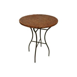 Wicker & Metal Bar Table For Sale
