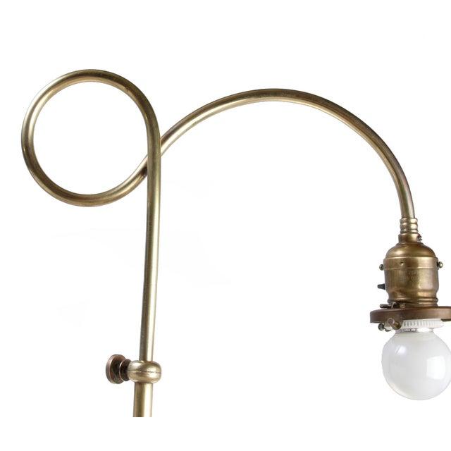 Brass Table Lamp W/ Milk Glass Globe - Image 8 of 10
