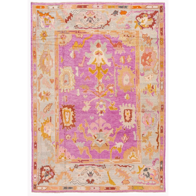 21st Century Contemporary Modern Oushak Wool Rug For Sale - Image 13 of 13