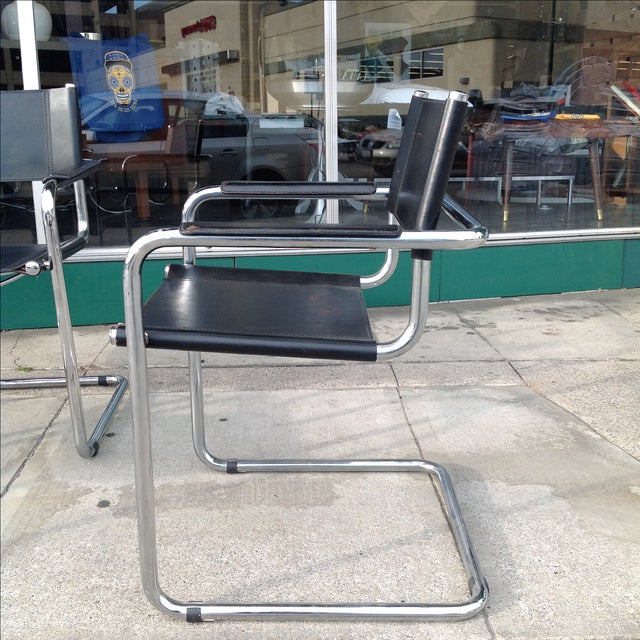 Mark Stam Vintage Cantilever Arm Chairs - Set of 4 - Image 5 of 8