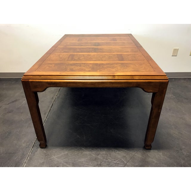 Wood CENTURY Chin Hua by Raymond K Sobota Asian Chinoiserie Dining Table For Sale - Image 7 of 11